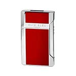 Elie Bleu Plano Jet Flame Lighter in Red Lacquer - L1032