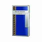 Elie Bleu Covered Jet Flame Lighter in Blue Laquer & Alba Marquetry - L1041