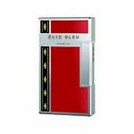 Elie Bleu Covered Jet Flame Lighter in Red Lacquer & Alba Marquetry - L1042
