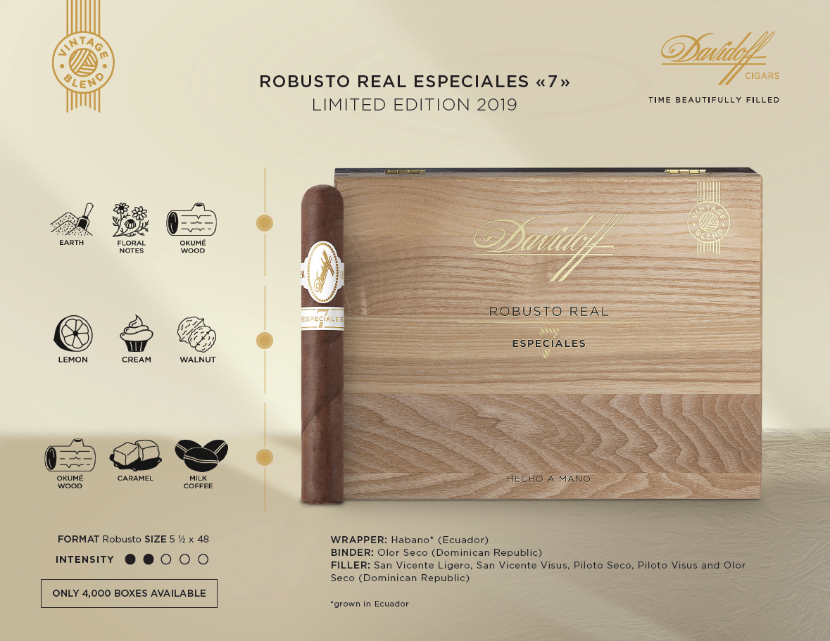 2019 Davidoff Robusto Real Especiales (Single)
